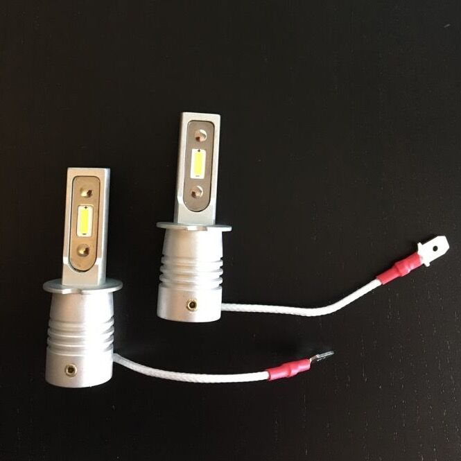 <strong>BMW 5 touring&nbsp;</strong><strong>cornering light LED&nbsp;</strong>H3<strong>.</strong>&nbsp;Pair of fanless bulbs for headlights with no space.