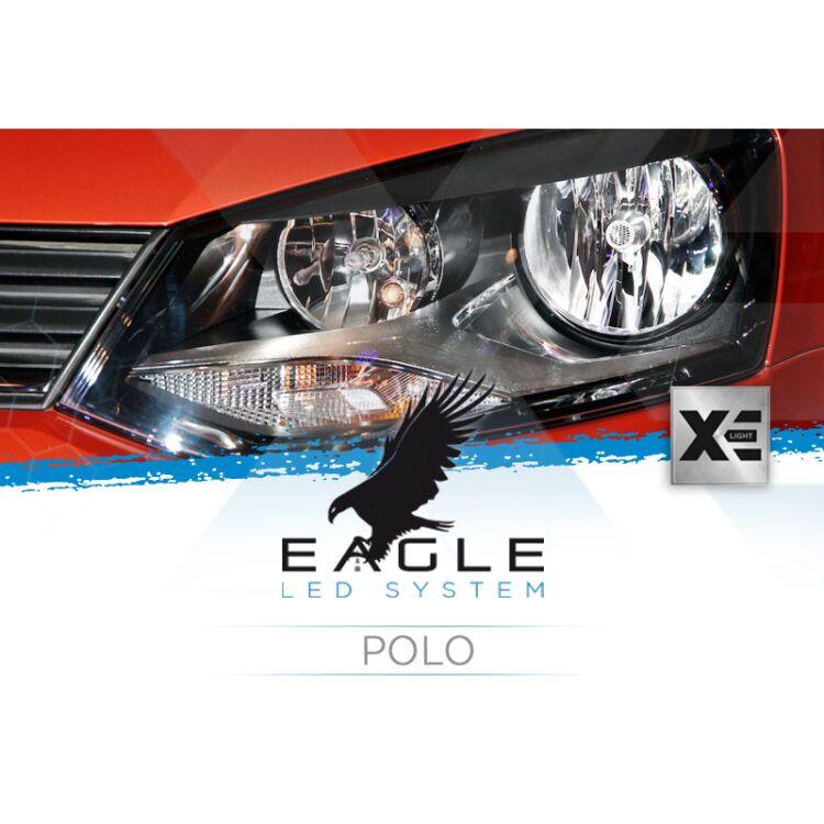 <p>Il Kit XE Light modello Eagle LED System studiato da Xenovision.it per la tua Polo 6R con innesto H7.</p>