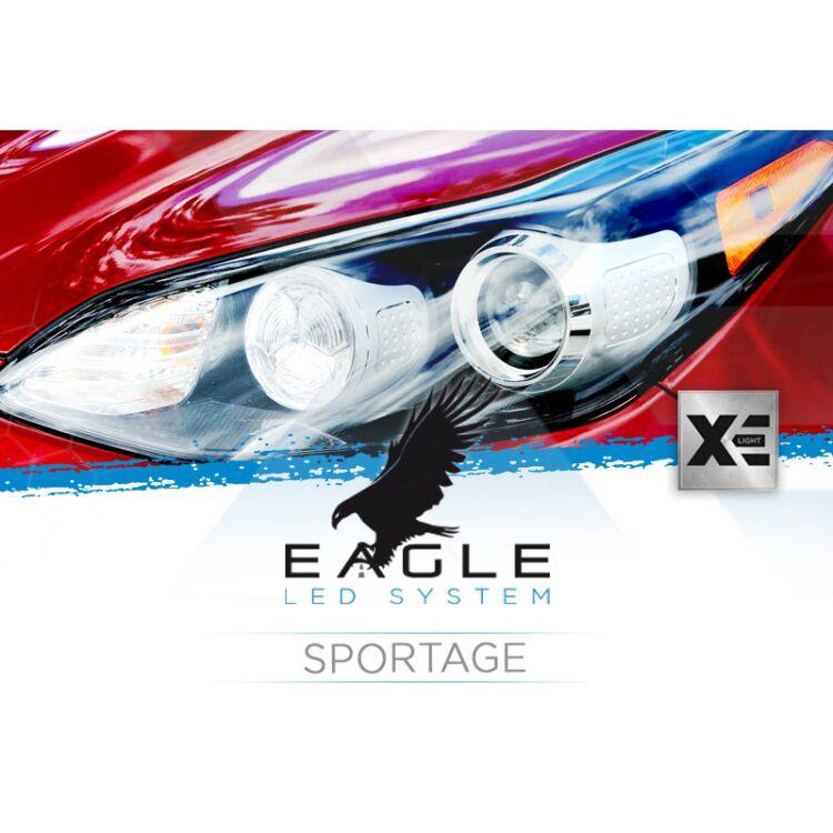<p>Il Kit XE Light modello Eagle LED System studiato da Xenovision.it per la tua Kia Sportage 2017 in poi (HB3).</p>