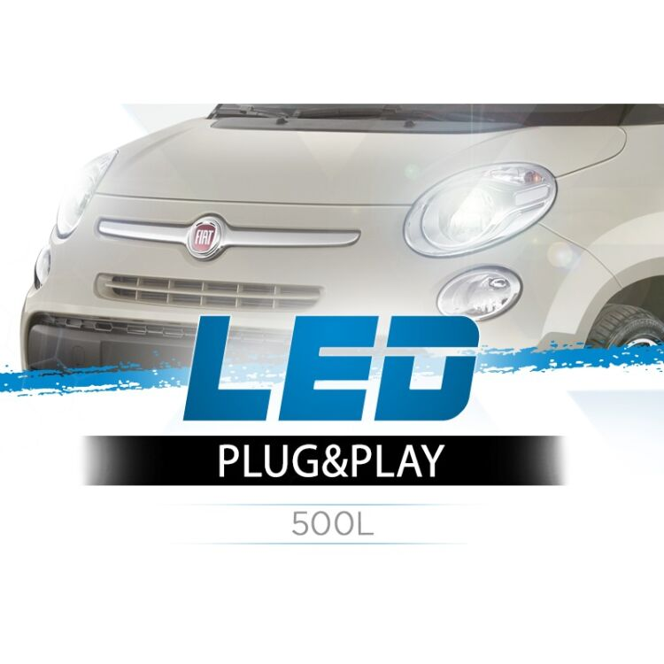 <p>Application specific LED Headlight Upgrade Kit for your 500L.</p>