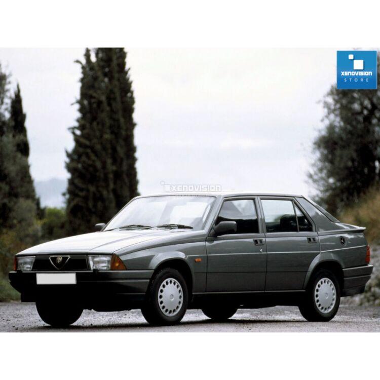 <p>Kit BiXenon 35W specifico per il faro della Alfa Romeo 75 dal 1985 al 1993 e Luci Posizione a Led in tinta. Plug&amp;Play zero spie, contiene tutto l&#39;occorrente. Luce Bianco Lunare 6000k.</p>