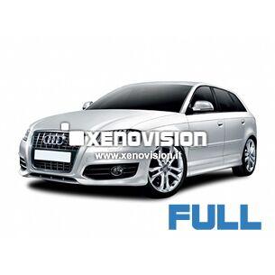 <p>Kit Led Audi A3 2011 FULL, conversione a Led per A3. Zero spie, Altissima Qualit&agrave;. Luce Bianco Lunare 6000k su ogni punto luce interno ed esterno.</p>