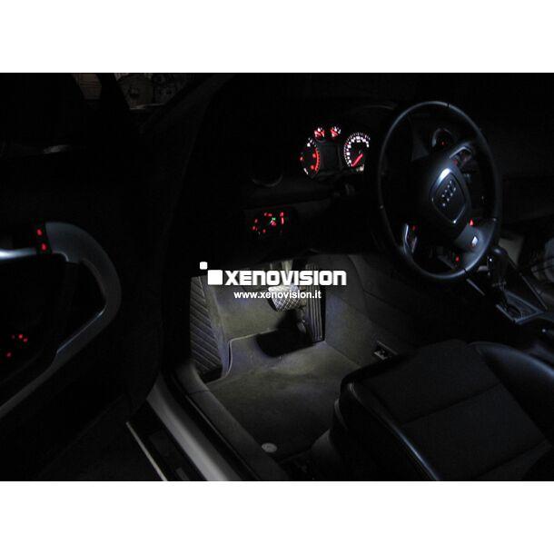 <p>Kit Led Audi A3 Total, conversione totale a Led per A3. Zero spie, Altissima Qualit&agrave;. Luce Bianco Lunare 6000k su ogni punto luce interno ed esterno. Modello con luminosit&agrave; scandalosamente potente su portiere, bagagliaio,poggiapiedi e portaoggetti.</p>