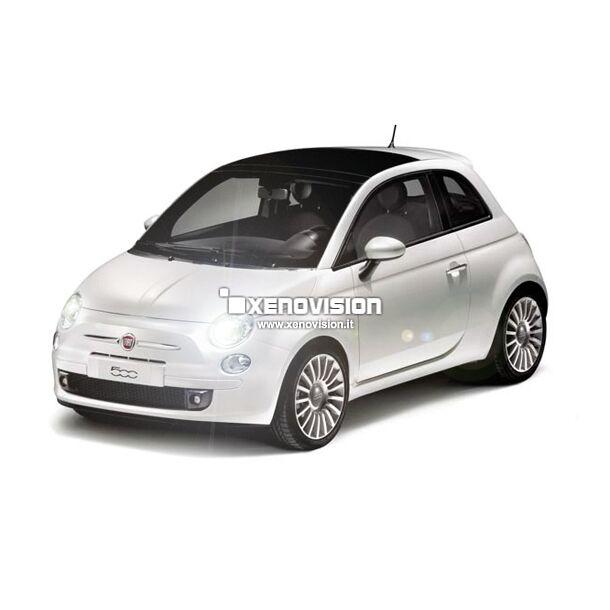 <p>Conversione totale LED 18 punti luce interni ed esterni per Fiat 500 (esclusi fari profondit&agrave; e DRL).</p>