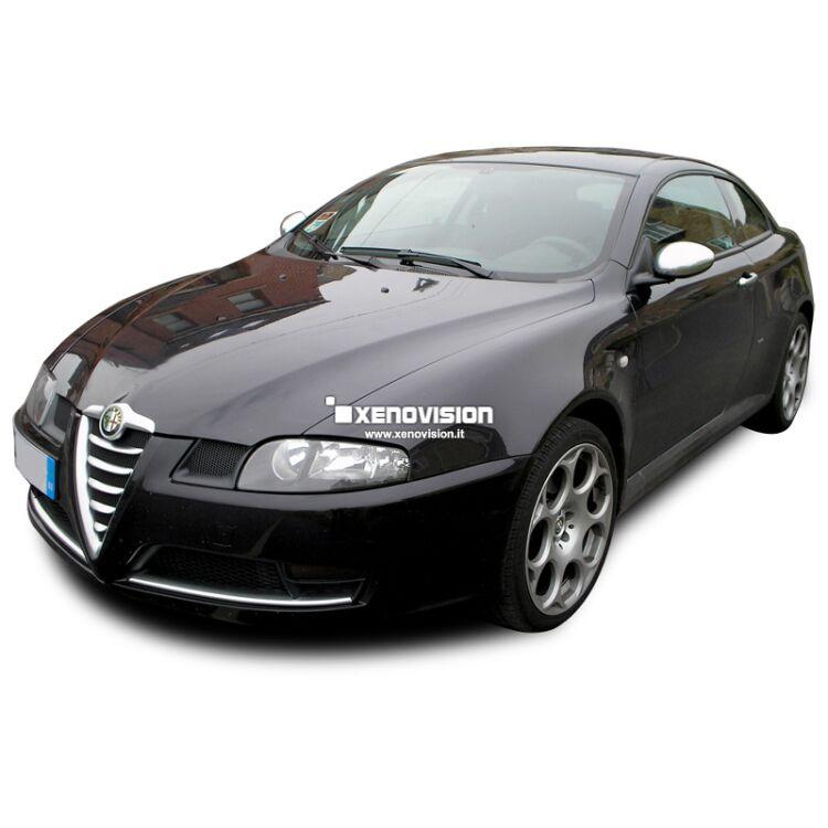 <p>Kit Xenon Focus PRO Korea 35W specifico per il faro della Alfa GT e Luci Posizione a Led in tinta. Plug&amp;Play zero spie, contiene tutto l'occorrente. Luce Bianco Lunare 6100k.</p>