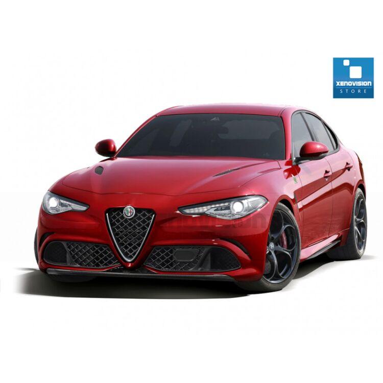 <p>Kit Focus Pro Korea Xenon 35W specifico per il faro della Alfa Romeo Giulia dal 2016 in poi. Plug&amp;Play zero spie, contiene tutto l'occorrente. Luce Bianco Lunare 6000k.</p> <p>&nbsp;</p>