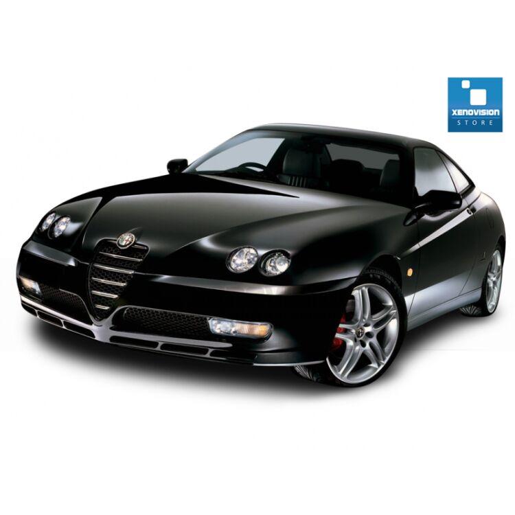 <p>Kit Xenon 35W specifico per il faro della Alfa Romeo GTV V6 e Luci Posizione a Led in tinta. Plug&amp;Play zero spie, contiene tutto l&#39;occorrente. Luce Bianco Lunare 6000k.</p><p>&nbsp;</p>