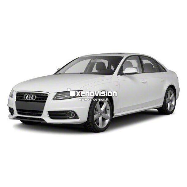 <p>Kit Xenon Lampade XE 35W specifico per il faro della Audi A4 e Luci Posizione a Led in tinta. Plug&amp;Play zero spie, contiene tutto l&#39;occorrente. Luce Bianco Lunare 6100k.</p><p>&nbsp;</p>