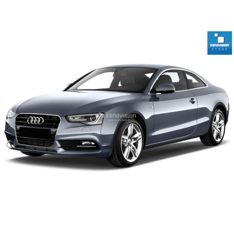 <p>Kit Xenon Focus Pro Korea 35W specifico per il faro della Audi A5 dal 2011 in poi e Luci Posizione a Led in tinta. Plug&amp;Play zero spie, contiene tutto l&#39;occorrente. Luce Bianco Lunare 6100k.</p><p>&nbsp;</p>