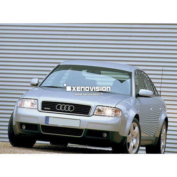 <p>Kit Xenon 55W specifico per il faro della Audi A6 e Luci Posizione a Led in tinta. Plug&amp;Play zero spie, contiene tutto l'occorrente. Luce Bianco Lunare 6000k.</p> <p>&nbsp;</p>