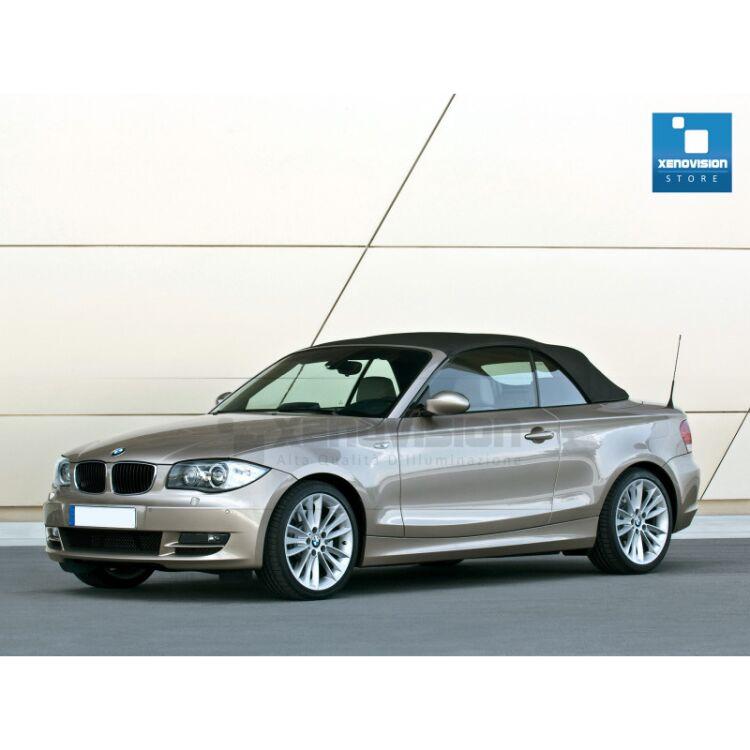 <p>Kit Focus Pro Korea Xenon 35W specifico per il faro della BMW Serie 1 E88 fino a 2011 e Angel Eyes di 20W in tinta. Plug&amp;Play zero spie, contiene tutto l'occorrente. Luce Bianco Lunare 5300k.</p> <p>&nbsp;</p>