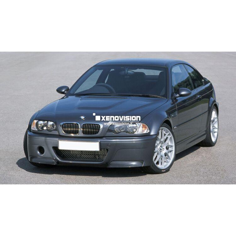 <p>Kit Xenon 35W specifico per il faro della BMW E46 e Luci Posizione a Led in tinta. Plug&amp;Play zero spie, contiene tutto l&#39;occorrente. Luce Bianco Lunare 5000k.</p>