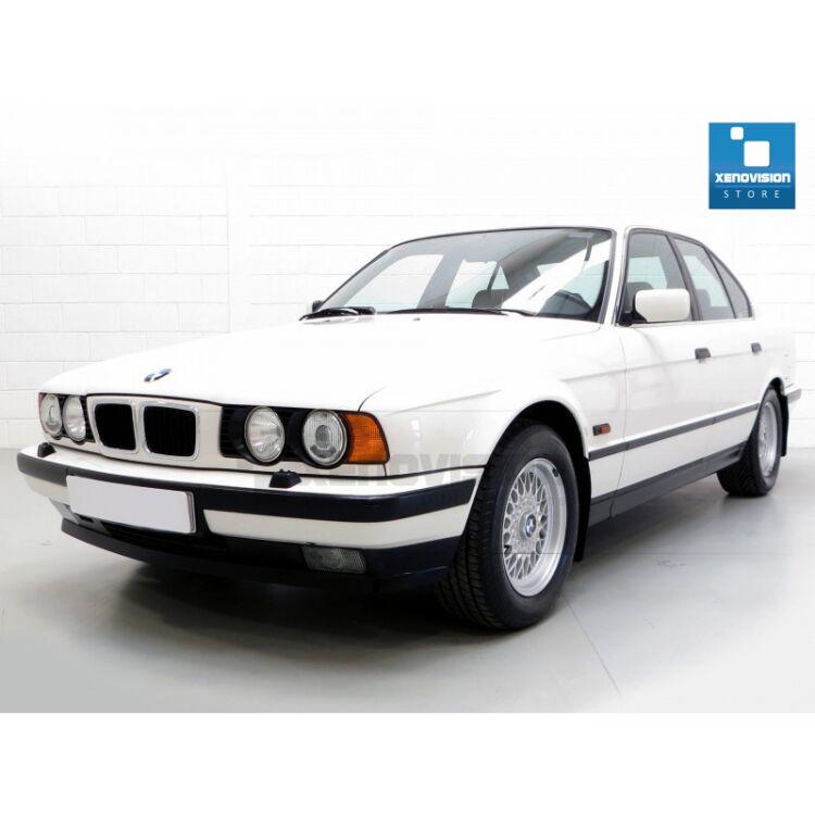 <p>Kit Focus Pro Korea Xenon 35W specifico per il faro della BMW Serie 5 E34 e Luci Posizione a Led in tinta. Plug&amp;Play zero spie, contiene tutto l&#39;occorrente. Luce Bianco Lunare 6000k.</p><p>&nbsp;</p>