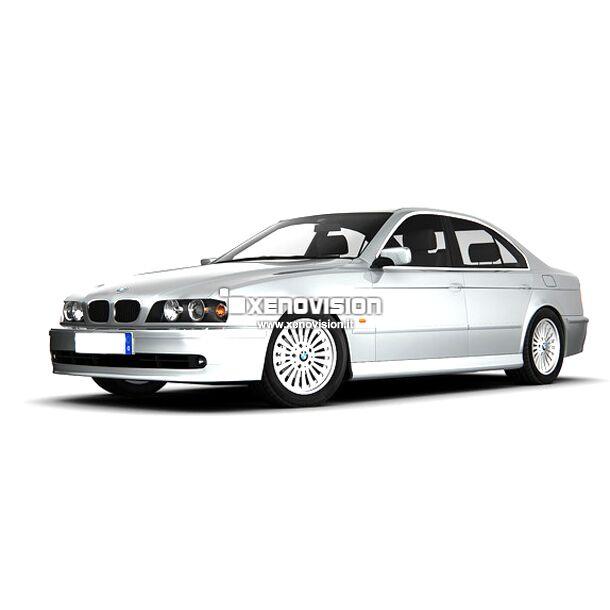 <p>Kit Xenon 35W specifico per il faro della BMW E39 e Luci Posizione a Led in tinta. Plug&amp;Play zero spie, contiene tutto l&#39;occorrente. Luce Bianco Lunare 6000k.</p>