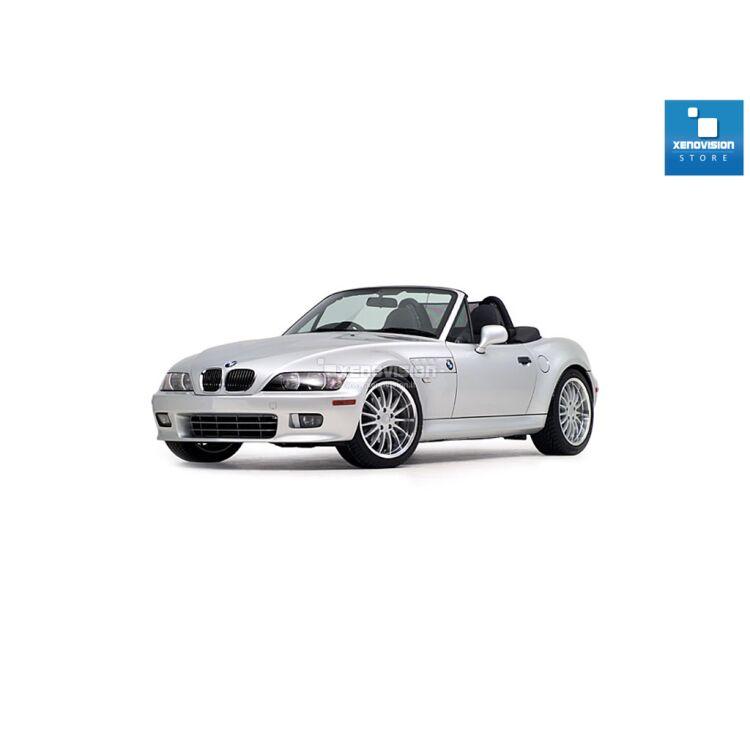 <p>Kit Focus Pro Korea Xenon 35W specifico per il faro della BMW Z3 e Luci Posizione a Led in tinta. Plug&amp;Play zero spie, contiene tutto l&#39;occorrente. Luce Bianco Lunare 6000k.</p><p>&nbsp;</p>