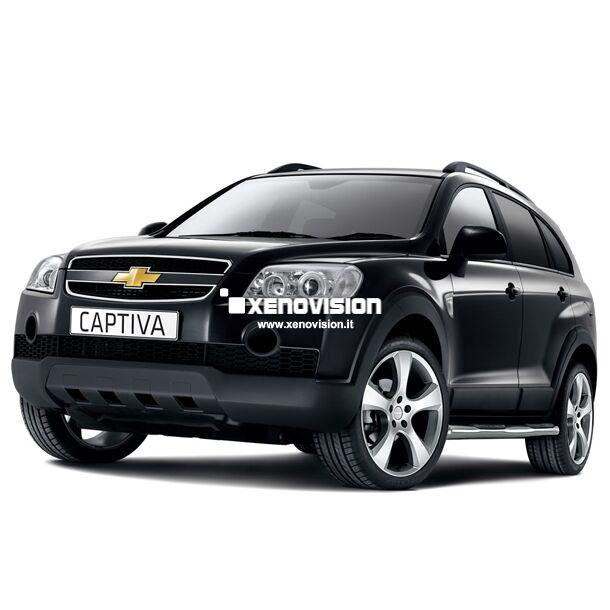 <p>Kit Xenon 35W specifico per il faro della Chevrolet Captiva. Plug&amp;Play zero spie, contiene tutto l'occorrente. Luce Bianco Lunare 6000k.</p> <p>&nbsp;</p>