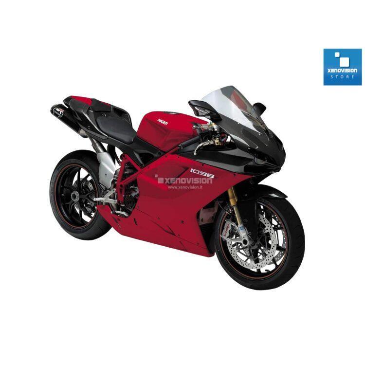 <p>Kit Xenon 35W specifico per il faro della Ducati 848 1098 1198 dal 2007 al 2009. Plug&amp;Play zero spie, contiene tutto l'occorrente. Luce Bianco Lunare 6000k.</p>