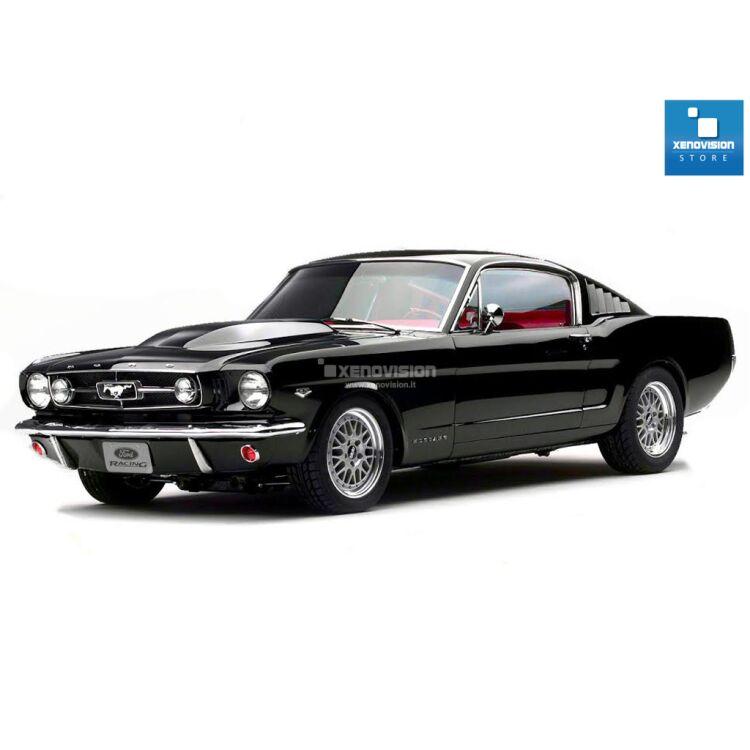 <p>Kit BiXenon 35W specifico per il faro della Ford Mustang dal 1964 al 1973. Plug&amp;Play zero spie, contiene tutto l&#39;occorrente. Luce Bianco Lunare 6000k.</p>