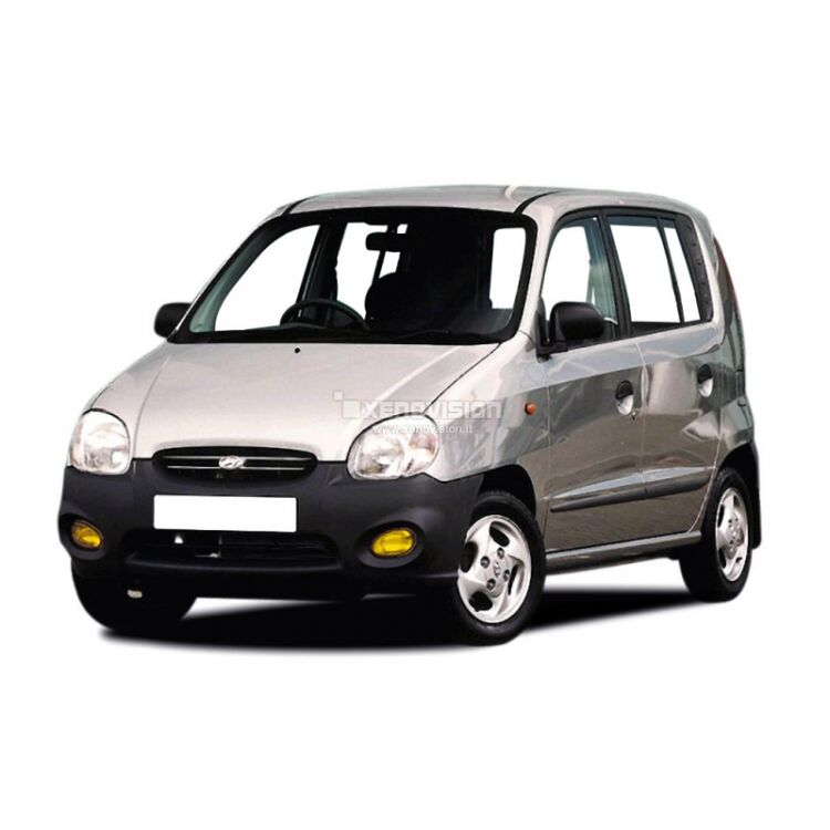 <p>Kit BiXenon 35W specifico per il faro della Hyundai Atos dal 1997 al 2008. Plug&amp;Play zero spie, contiene tutto l&#39;occorrente. Luce Bianco Lunare 6000k.</p>