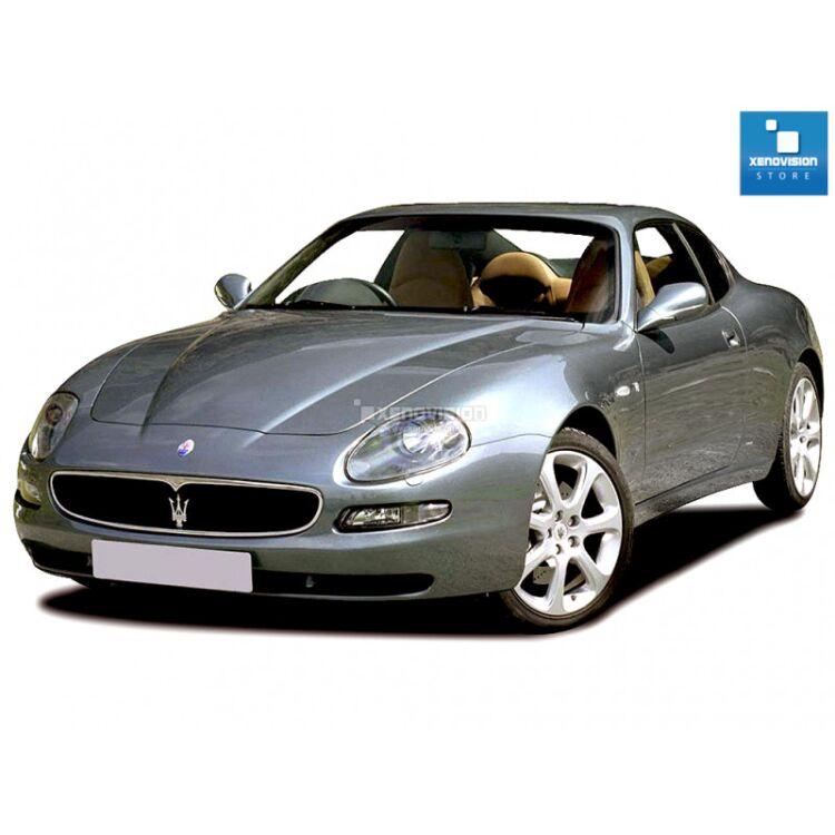 <p>Kit Xenon 35W e Luci Posizione a Led in tinta, pacchetto specifico per Maserati 3200 4200 GT dal 1998 in poi. Plug&amp;Play, contiene tutto l&#39;occorrente. Luce Bianco Lunare 6000k &nbsp;</p>