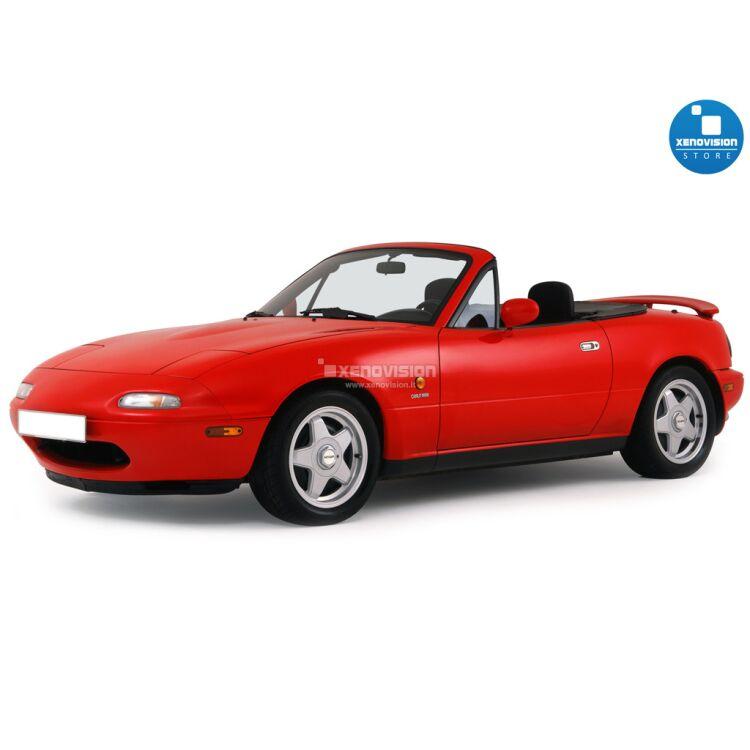 <p>Kit BiXenon 35W specifico per il faro della Mazda MX-5 NA dal 1989 al 1997. Plug&amp;Play zero spie, contiene tutto l&#39;occorrente. Luce Bianco Lunare 6000k.</p>