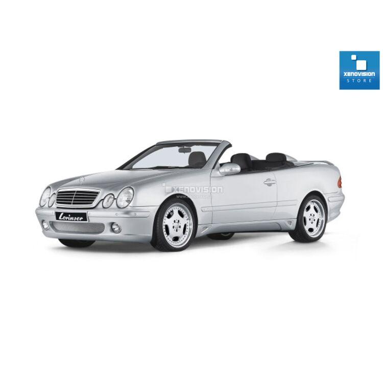 <p>Kit Xenon 35W specifico per il faro della&nbsp;Mercedes CLK C208 e Luci Posizione a Led in tinta. Plug&amp;Play zero spie, contiene tutto l&#39;occorrente. Luce Bianco Lunare 6000k.</p><p>&nbsp;</p>