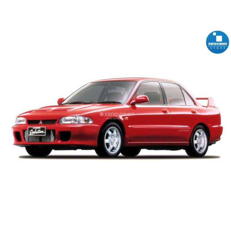 <p>Kit BiXenon 35W specifico per il faro della Mitsubishi Lancer Evolution I dal 1992 al 1993. Plug&amp;Play zero spie, contiene tutto l&#39;occorrente. Luce Bianco Lunare 6000k.</p>
