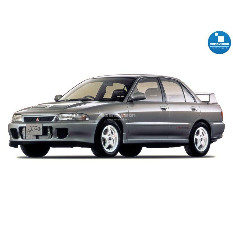 <p>Kit BiXenon 35W specifico per il faro della Mitsubishi Lancer Evolution II dal 1993 al 1995. Plug&amp;Play zero spie, contiene tutto l&#39;occorrente. Luce Bianco Lunare 6000k.</p>
