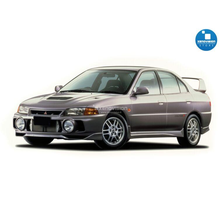 <p>Kit BiXenon 35W specifico per il faro della Mitsubishi Lancer Evolution IV dal 1996 al 1998. Plug&amp;Play zero spie, contiene tutto l&#39;occorrente. Luce Bianco Lunare 6000k.</p>