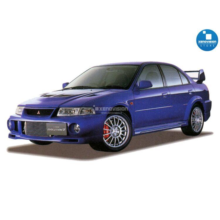 <p>Kit BiXenon 35W specifico per il faro della Mitsubishi Lancer Evolution VI dal 1999 al 2001. Plug&amp;Play zero spie, contiene tutto l&#39;occorrente. Luce Bianco Lunare 6000k.</p>