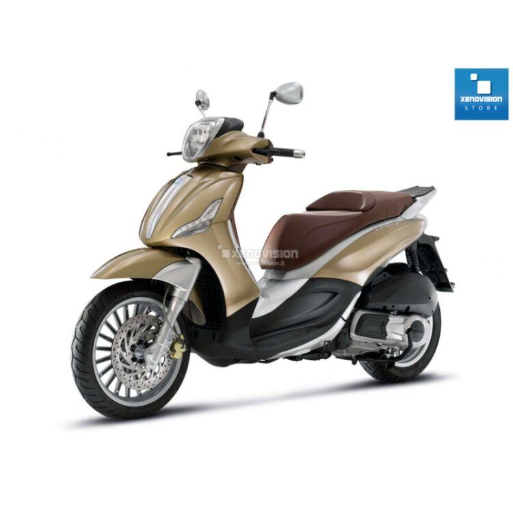 <p>Kit Piaggio Beverly dal 2010 in poi, 6000k 35W Ultra Slim Xenovision ad architettura digitale 64-Bit. Lampade xenon Bianco Lunare Ket KOREA, Qualita Garantita 2 anni&nbsp;</p>