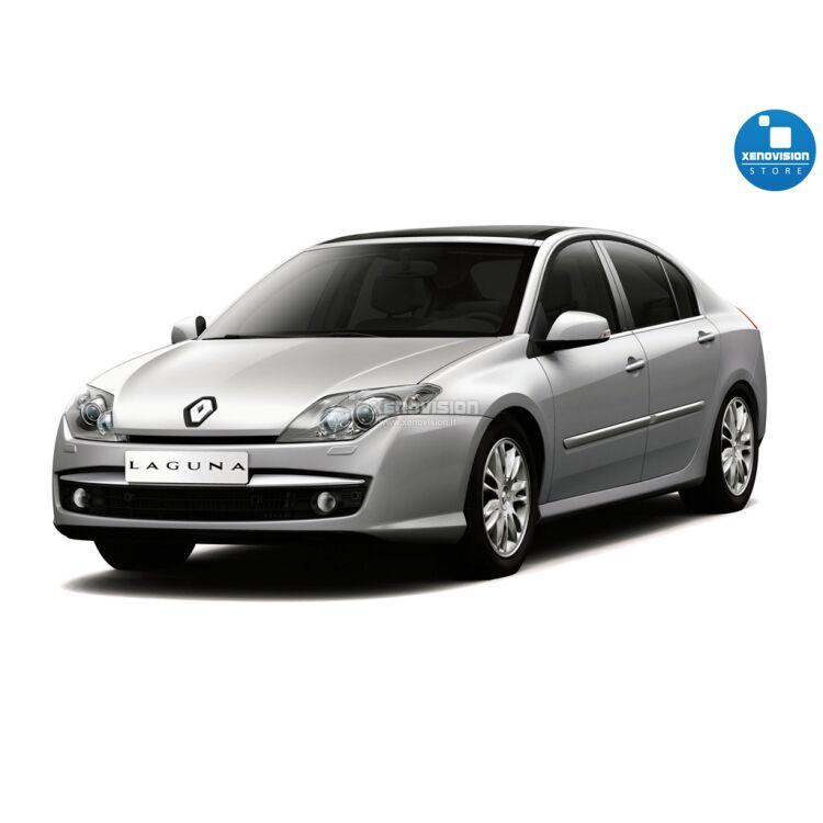 <p>Kit Xenon 35W specifico per il faro della Renault Laguna III dal 2007 in poi e Luci Posizione a Led in tinta. Plug&amp;Play zero spie, contiene tutto l&#39;occorrente. Luce Bianco Solare 5000k.</p>