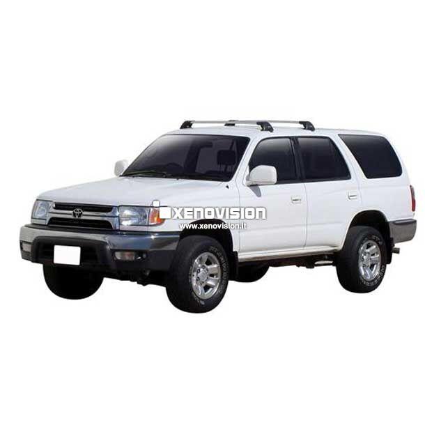 <p>Kit BiXenon 35W specifico per il faro della Toyota 4Runner e Luci Posizione Led in tinta. Plug&amp;Play zero spie, contiene tutto l&#39;occorrente. Luce Bianco Lunare 6000k.</p>