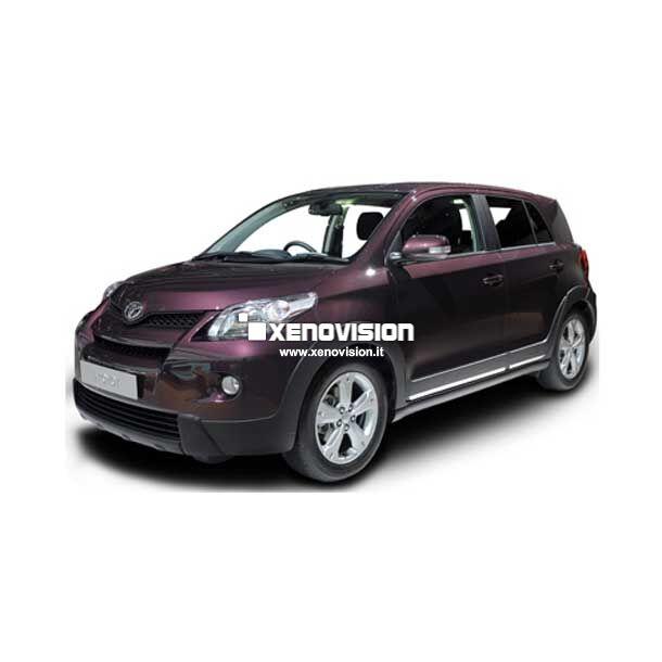 <p>Kit BiXenon 35W specifico per il faro della &nbsp;Toyota Urban Cruiser&nbsp;e Luci Posizione Led in tinta. Plug&amp;Play zero spie, contiene tutto l&#39;occorrente. Luce Bianco Lunare 6000k.</p>